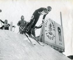 Leaving the start gate at the Sugarloaf World Cup, 1971