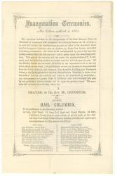 Program for Louisiana inauguration, 1864