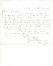 James Dunning plea to Gen. Shepley, Bangor, 1864