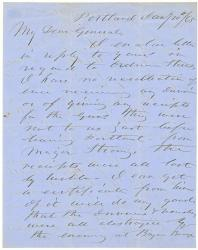 H. Jose on ordnance documents, Portland, 1865