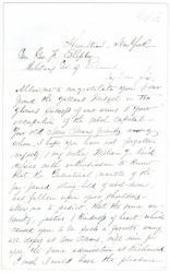 Request for Gen. Shepley to find relative, Richmond, Va., 1865