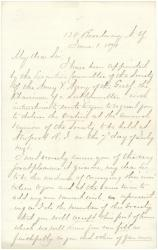 Invitation to G.F. Shepley to speak at reunion, New York, 1871