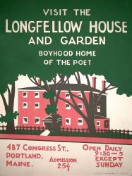 Visit the Longfellow House poster, ca. 1935