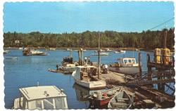Packing lobsters at Farrin's Wharf, South Bristol, ca. 1973