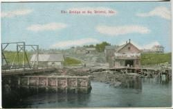 The first swing bridge in South Bristol, ca. 1910