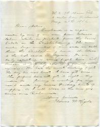 Thomas W. Hyde letter about cigar, Richmond, Va., 1862