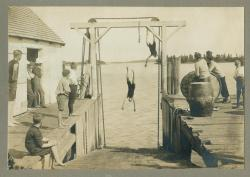 Swimming at the steamboat slip, ca. 1910