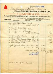 Invoice for fishing gear for, 1902