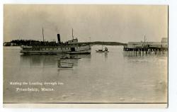 "The"" Monhegan"" landing through ice, ca. 1915"