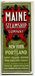 Maine Steamship Co. schedule, 1902