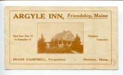 Argyle Inn brochure, ca. 1910