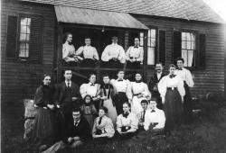 George A. Savage, Sr. and Mabelle Strout Savage and Asticou Inn Employees at the Old House