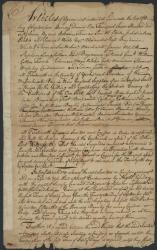 Agreement to hunt Indians, Portland, 1757