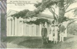 The Kreislers and Schellings outside the Building of The Arts