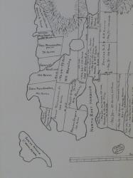 Northeast Harbor Section of 1807 Map by James and John Peters