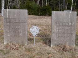 Gravestones of John Savage and Sarah Dolliver Savage