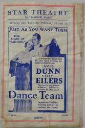 Star Theatre Advertisement