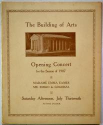 Building of the Arts Program, 1907