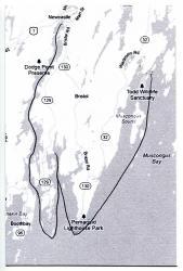 Map of the Pemaquid Peninsula