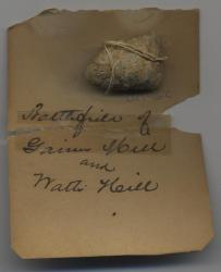 Lead bullet relic, Gaines Mill, ca. 1862