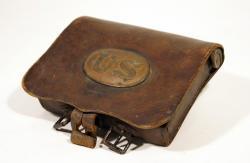 Soldier's  cartridge box, ca. 1863