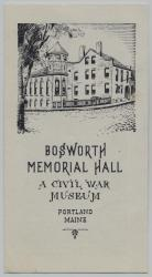 Bosworth Memorial Hall pamphlet, Portland, ca. 1960