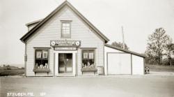 Last of the Byther Block buildings, Steuben, ca. 1915