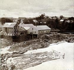 Head of Skowhegan Island, from Elm Street, about 1870