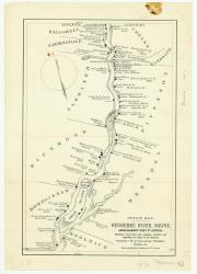 Map of ice houses along the Kennebec River, 1891