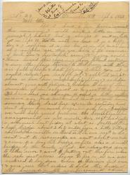 Willis M. Porter letter about Lee surrender, 1865