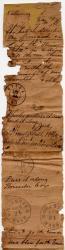 Civil War post office scroll, 1862-1864