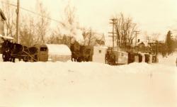 Horse-drawn school teams, Caribou,  ca. 1928