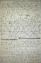 Letter about living conditions in Aroostook County, ca. 1845