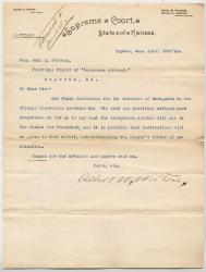 Letter to John L. Stevens on Blaine nomination, 1888