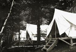 Tent Row, Camp Quantabacook, Belfast, ca. 1920