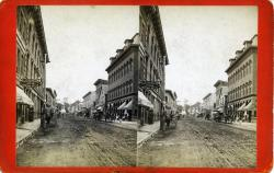 Main Street south from Masonic Block, Rockland, ca. 1875
