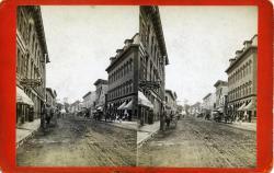 Main Street south from Masonic Block, Rockland, ca. 1875