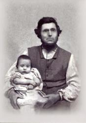 John Young Merrill and son, Edwin Kimball Merrill, Leeds, 1860