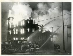Burning of the Washington and Alfred Street Tenement, Biddeford, 1973
