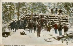 Bangor Lumber Company lumbermen, ca. 1910