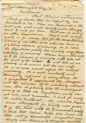 Letter from Andrew van Bibber, May 20, 1888
