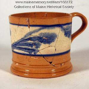 Yellow ware mug, Portland, ca. 1850