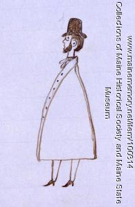 John Martin in Spanish cloak, Bangor, 1846