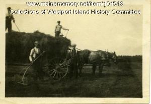 Haying on the Colby Farm, Westport Island, ca. 1907