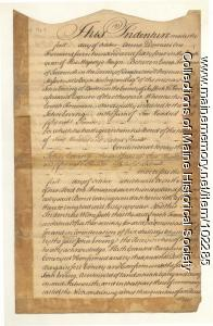 Falmouth Neck deed of ownership, Portland, 1764