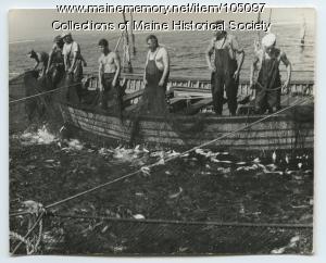 "Fishermen on board ""Midnight Sun,"" ca. 1935"