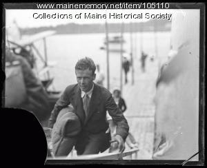 Charles Lindbergh, Scarborough, 1927