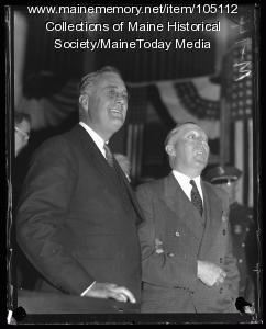 Franklin D. Roosevelt and Louis J. Brann, Portland, 1932