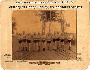 Fire Department running team, Houlton, ca. 1886