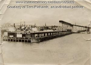 Maine State Pier from the USAT St. Mihiel, Portland, 1939